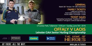 Offaly v Laois LSHC Ticket Information
