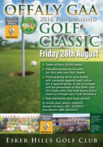 Support Offaly GAA Golf Classic – Sponsored by Tullamore Motors