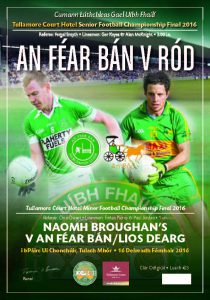 Sixty Page Match Programme for Sunday's Football Finals