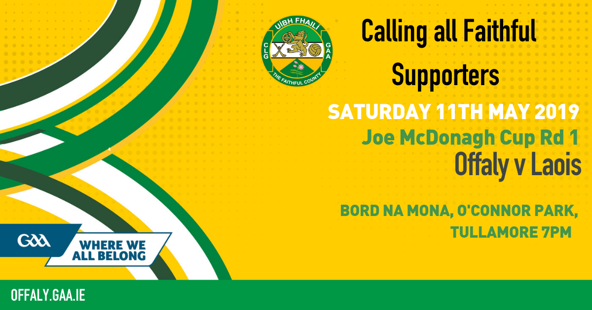 Offaly team to play Laois Announced