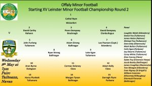 Minor Football Team Announced