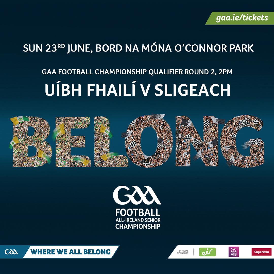 Offaly Team to play Sligo Announced