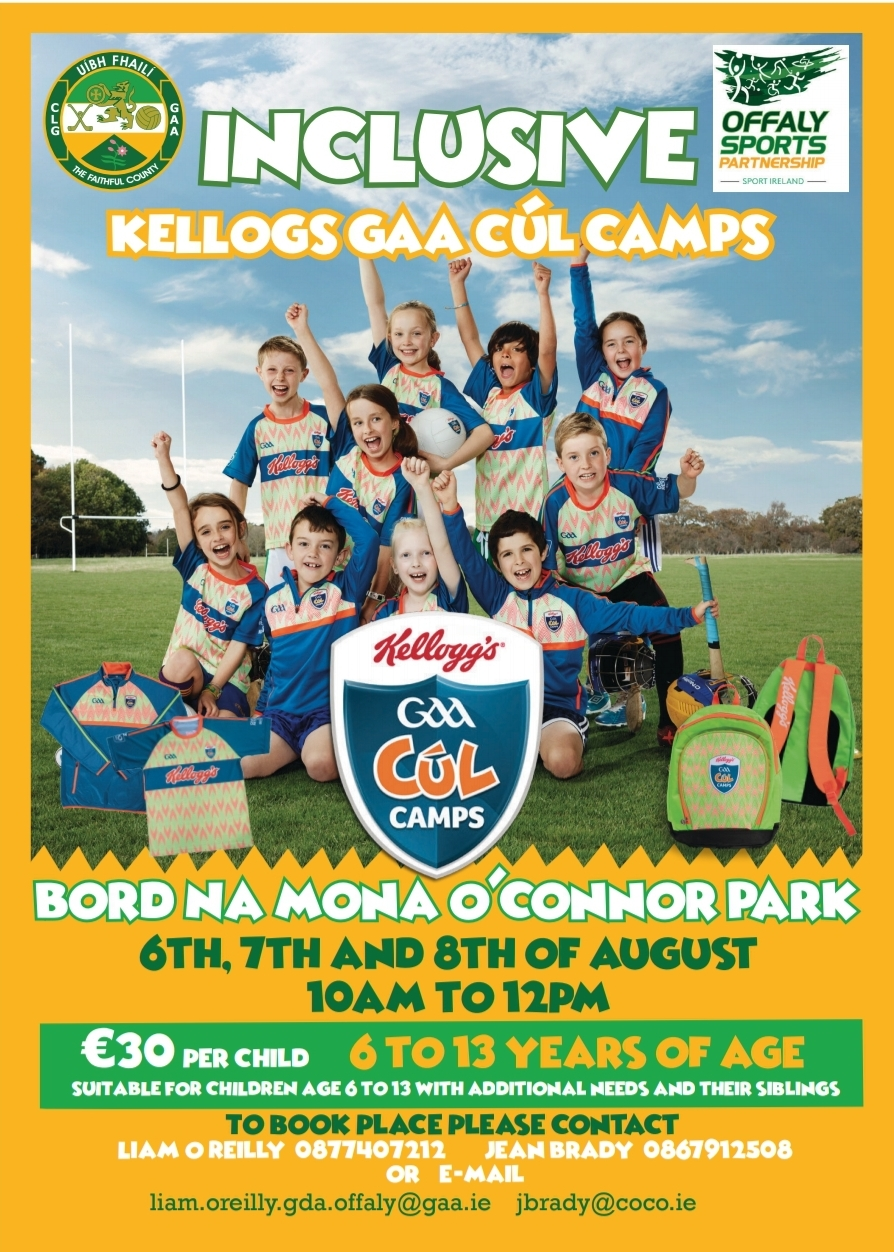 Inclusive Kellogs GAA Cúl Camps