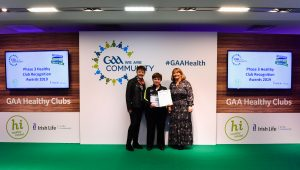 Coolderry receives national recognition becoming an official GAA Healthy Club in Croke Park