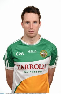 30 May 2015; James Mulrooney, Offaly. Offaly Hurling Squad Portraits 2015. Mount St. Joseph Abbey, Roscrea, Co. Tipperary. Picture credit: Stephen McCarthy / SPORTSFILE