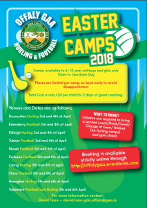 Easter Camps 2018
