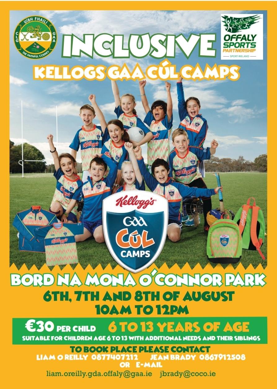 Inclusive Kellogs GAA Cúl Camps