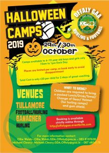 "Offaly GAA announce their ""Spooktacular"" Halloween Camp"