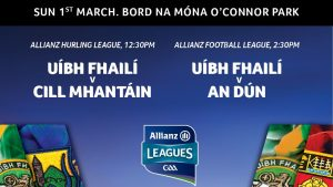 League Double-Header In Tullamore This Sunday